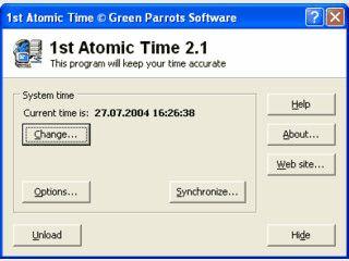Automatische Uhrzeitstellung nach Atom-Uhr.