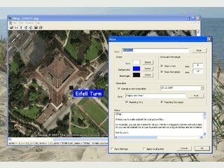 Software mit der Textlabels in Bilder eingefügt werden können.
