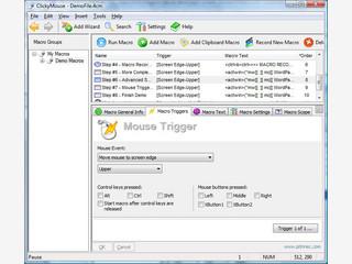 Makros die via Mouseeingabe gestartet werden können.