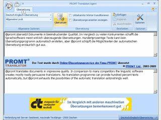 Werbefinanzierte Übersetzungssoftware für europäische Sprachen.