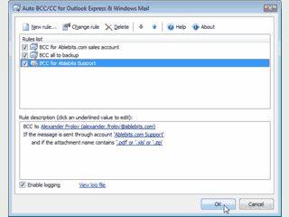 Automatische BCC/CC Mails mit Outlook Express und Windows Mail versenden.