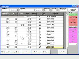 Einfaches Kassenbuch für Freiberufler, Ich-AGs, Kleingewerbe
