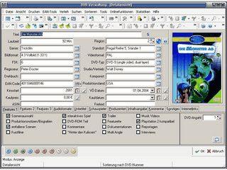 Programm zur Verwaltung von DVD-Sammlungen.