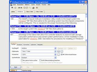 Suchen und Ersetzen in beliebig vielen Dateien gleichzeitig