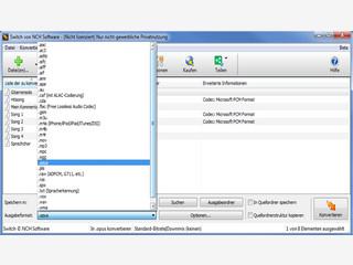 Switch Audio-Converter für MP3, WAV, M4A und 40 weitere Dateiformate.