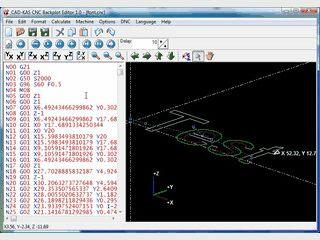 Bewegungspfad, den ein G-Code Programm erzeugt, am Bildschirm darstellen