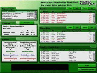 Statistik mit Spiel-Prognose mit über 100.000 Spielen und 1300 Mannschaften