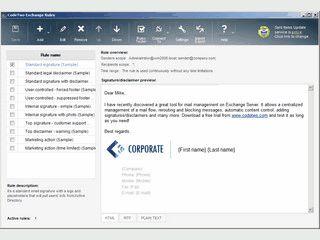 Automatisch gezielte Informationen in ausgehende Emails einfügen.