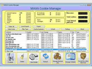 Cookie Manager der auch browserübergreifende Cookies unterstützt.