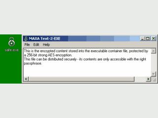Text2Exe ist ein ausführbarer Container für verschlüsselten Text.