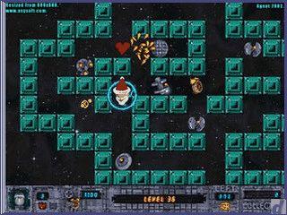 PacMan mit umgekehrtem Spielprinzip. Legen Sie die BonBons aus.