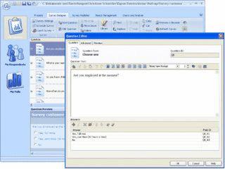 Leistungsfähiges Tool zum Entwerfen, Veröffentlichen und Auswerten von Umfragen