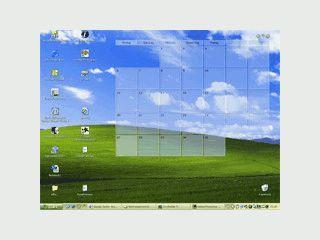 Termine von Outlook auf dem Desktop als Kalender darstellen