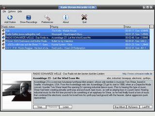 Nimmt Internet-Radiosender auf und speichert Sie als MP3, OGG oder ACC Datei.