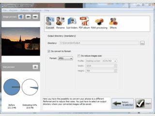 Konvertiert ARW Rohbilddaten in andere Formate.