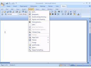 Die von MS Office 2003 gewohnte Arbeitsoberfläche für MS Office 2007