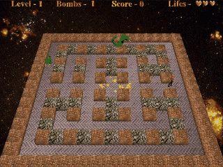 Remake des Arcadeklassikers Bomberman mit  50 unterschiedlichen Level.