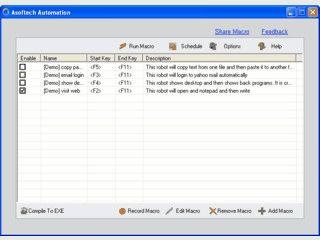 Aufnahme und Wiedergabe von Tastatur- und Mausaktionen. Optional per Scheduler