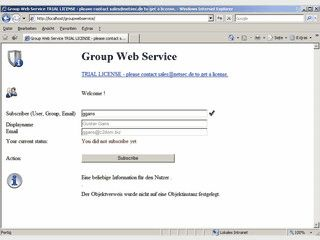 Benutzer können sich selbst zu einer Gruppe hinzufügen.