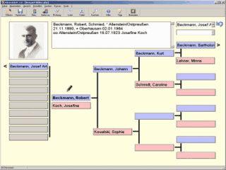 Software zur Ahnenforschung mit umfangreichen Druckfunktionen sowie Im-, Export