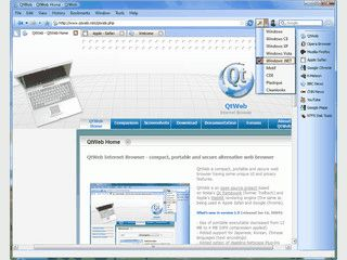 Schneller und portabel nutzbarer Browser mit GNU Lizenz.