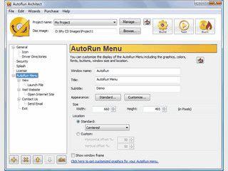 Übersichtlicher Editior zum Erstellen von Auto-Run Menüs für CDs und DVDs