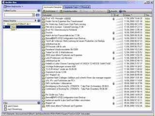 Archivierung von beliebigen Dateien, Emails, gescannten Dokumenten usw.