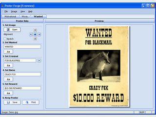 Software zur Erstellung von Plakaten mit verschiedenen Vorlagen.