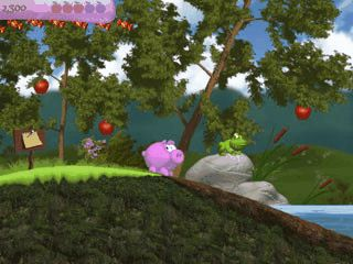 Jump'n Run mit dem Ferkel Piggly. Witzig, unterhaltsam und kurzweilig.