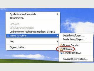 Schneller Zugang zu Ihren Dateien, Ordnern und Programmen.