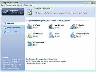 Antivirensoftware mit heuristischem Virenschutz.