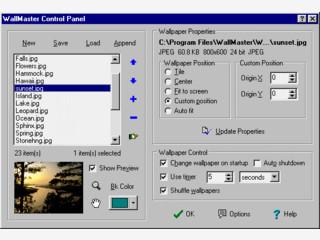 Der WallMaster ist wirklich ein wahrer Meister für den Desktophintergrund.