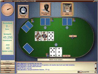 Texas Hold'em Poker online mit bis zu 4 Spielern spielen.