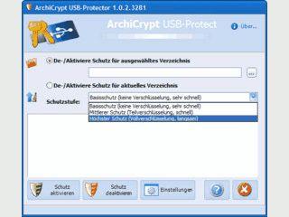 Schützt und verschlüsselt Daten auf der Festplatte und auf USB-Sticks