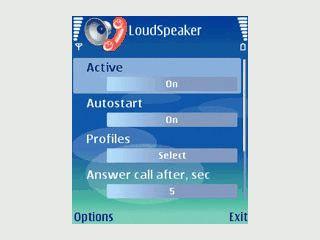Automatische Rufannahme bei gleichzeitigem Einschalten des Lautsprechers.