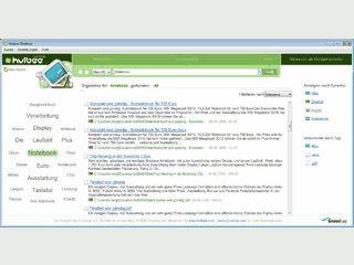 Direkte Suche bei hulbee.de vom Desktop aus.