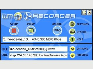Video- und Audio-Streaming-Recorder.