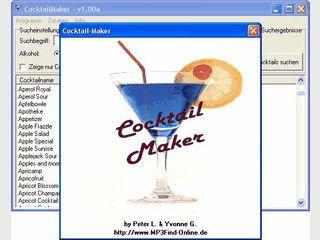 Cocktailmaker - die Cocktaildatenbank mit Rückwärtssuche
