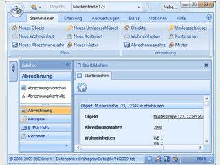 Software zur Erstellung der jährlichen Nebenkostenabrechnungen
