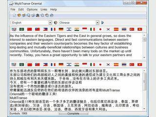 Übersetzung für europäische, asiatische und orientalische Sprachen.