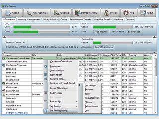 Tweak-Tool um die Geschwindigkeit und Stabilit�t ihres Computers zu verbessern.