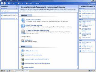 Datensicherung mit integrierter Systemwiederherstellung für Windows Server.