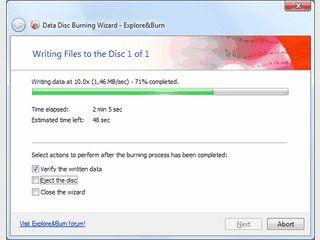 Einfach und schnell Ordner und Dateien zum Brennen auf CD/DVD auswählen.