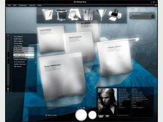 Adressverwaltung im schicken 3D Look.