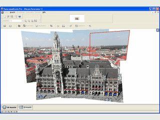 Erzeugung ein- und mehrreihiger Panoramen bis hin zu 360x180°-Panoramen.
