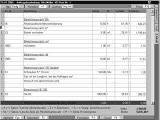 Warenwirtschaftssystem für Dienstleistungs- und Handwerksbetriebe
