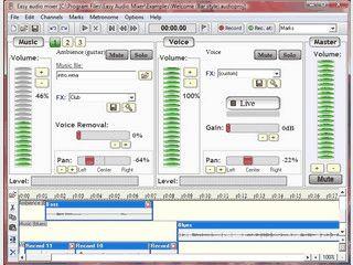 Aufnahmesoftware für Windows mit zwei Kanälen.