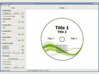 Cover, Hüllen und Labels für CD/DVDs erstellen und ausdrucken.
