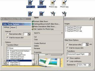 Direkt im Windows Explorer Slideshows von ausgewählten Bildern anzeigen.