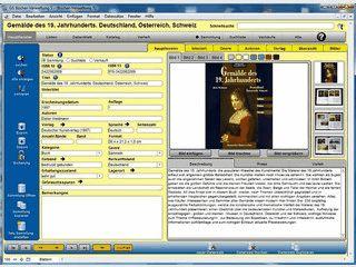 Software zur Verwaltung von Büchersammlungen mit bis zu 4 Bildern je Buch.